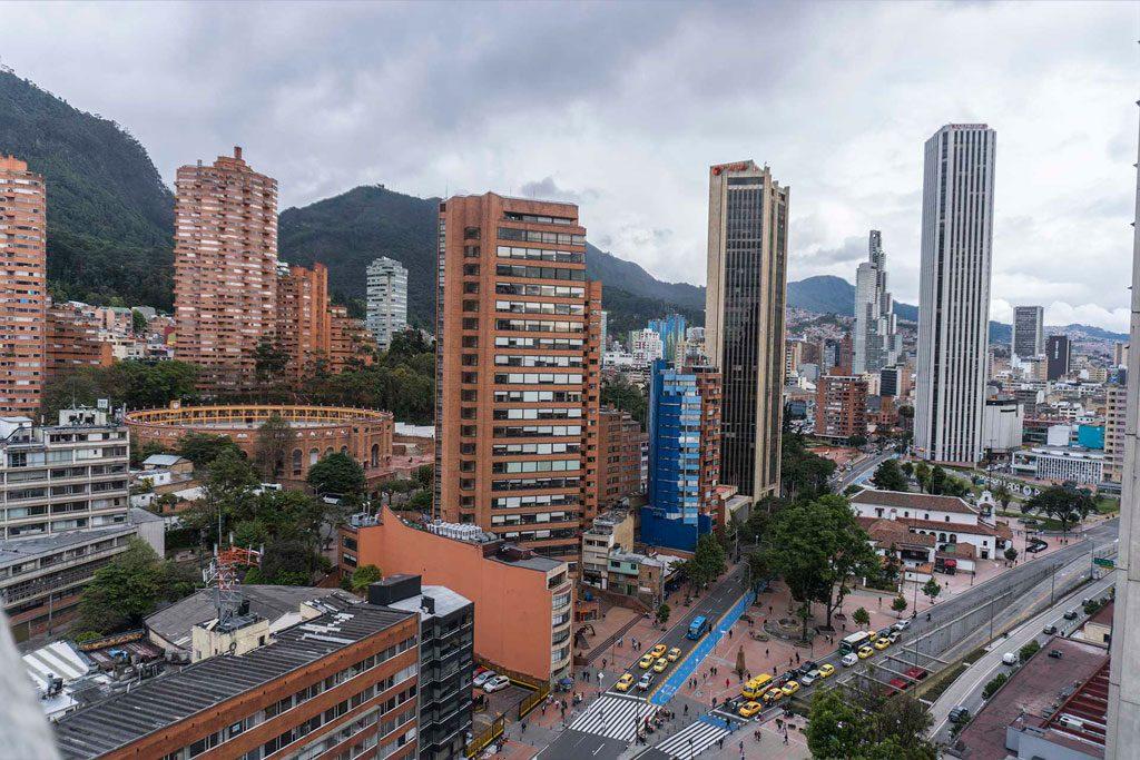 Banner centrum Bogota