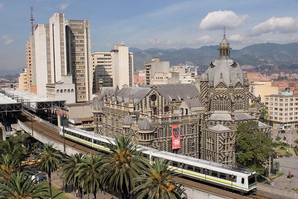 Metro near Palacio, center of Medellin